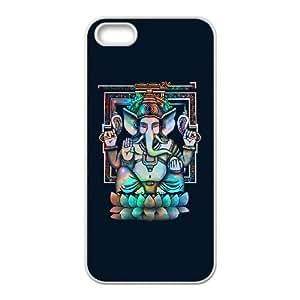 iPhone 5 5s Cell Phone Case White Cosmic Ganesh Bright budu