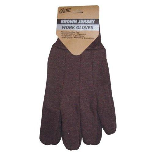 - Brown Jersey Work Gloves Case Pack 144, new