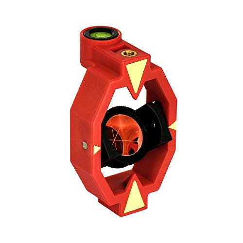 AdirPro 720-23 Basic Round Mini Prism for Total Stations- Prism Constant up to 17.5mm, Tilt Height 50mm- Compact, Soft Bag Included- High End Glass w/Polymer Housing- Land and Laser Surveying Tools