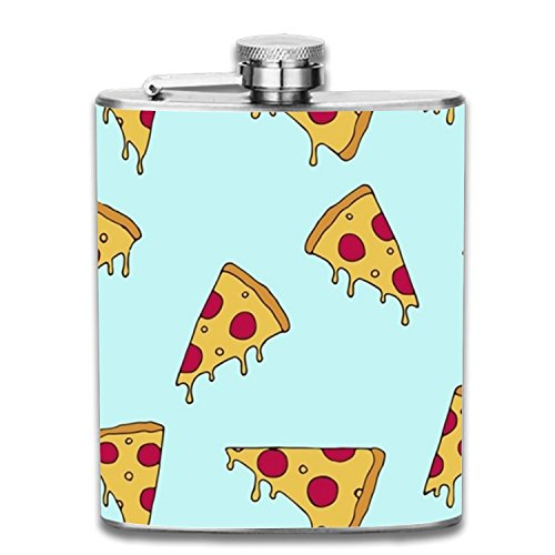 The 'Fyre Festival Of Pizza Portable 7oz Stainless Steel Hip Flask Alcohol Flagon