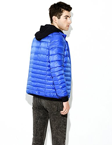 Coat Yeokou Men's Jacket Blue Short Packable Quilted weight Puffer Down T8aHnTwx