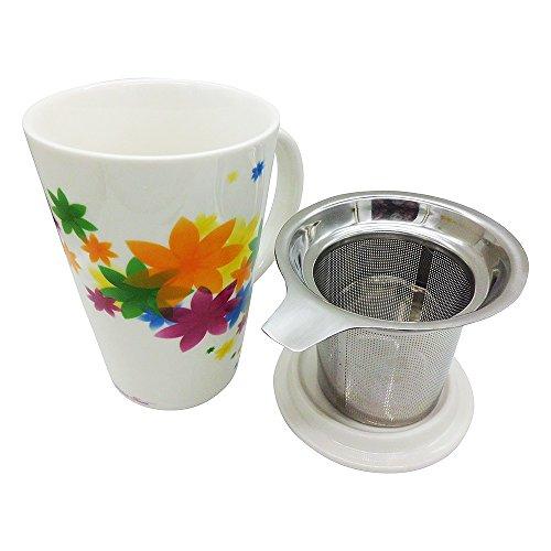 Logo Summer Floral Ceramic Coffee Mug/Tea Cup/ ...