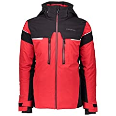 KEY FEATURES Removable hood is helmet compatible and has a 2 way drawcord adjustment feature Fleece lined collar and handwarmer pockets keep you warm on the slopes Full Motion Fusion fabric combines with the adjustable interior hem drawcord f...