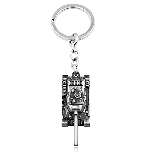 Romanticworks Men's Jewelry World of Tanks Game Tank Tag Key Holder Rings Keychain - World Of Tanks