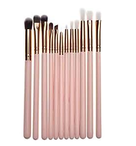 Pink makeup brush 12 pcs makeup brush set eye brush eye shadow brush makeup brush cover brush
