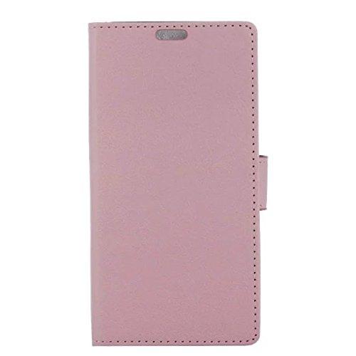 EKINHUI Case Cover IPhone 7 Plus Fall, feste Farbe Kas-Beschaffenheits-Muster-Leder-schützender Abdeckungs-Fall-horizontaler Schlag-Standplatz-Fall mit Karten-Schlitzen für iPhone 7 Plus ( Color : Pin