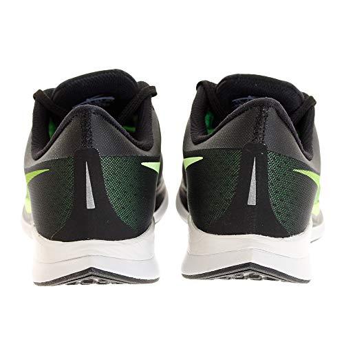 Nike Men's Air Zoom Pegasus 35 Turbo Running Shoes (8.5, Black/Lime)