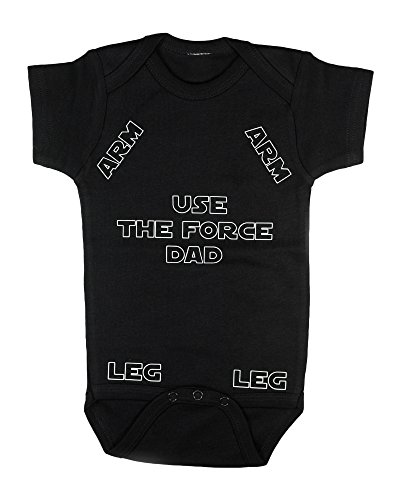 Funny baby shower gift for Dad Baby bodysuit Humorous baby clothes | Sizes: newborn - 18 months (6-12 months)