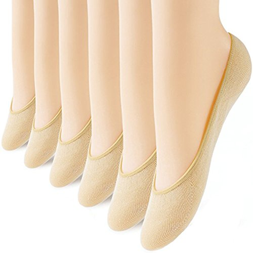 6 Pairs No Show Socks Women No Show Liner Socks Womens No Show Socks Thin Low Cut Casual Socks Non Slip -