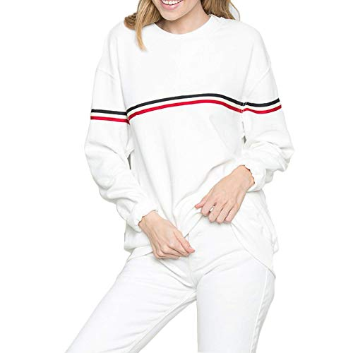 White Red Sweatshirts Women Cute Pastel Aesthetic Tumblr Pullover Sweaters Teen Girls Oversized (White, Small)
