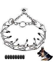 Love Dream Dog Prong Training Collar, Metal Choke Pinch Dog Collar with Comfort Tips, Adjustable Pet Training Collar for Small Medium Large Dogs