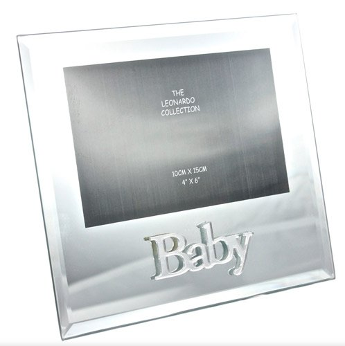 Baby Mirrored Glass 6 x 4 Photo Picture Frame