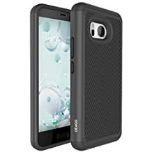 HTC U11 Case, OEAGO HTC U11 Case [Shockproof] [Impact Protection] Hybrid Dual Layer Defender Protective Case Cover for HTC U11 (2017 Release) - Black