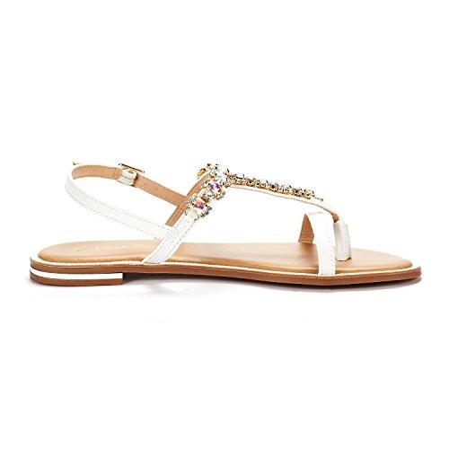 Sling Fashion Design PAIRS Flat Back FANTASIA Sandals Rhinestones DREAM 5 Women's WHITE YxwpAq6H