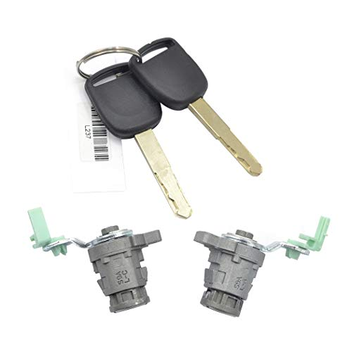 Fansport 2PCS Left and Right Door Cylinder Ignition Lock with Keys Compatible with Honda