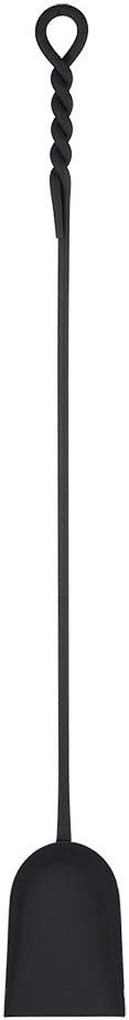 Minuteman International Rope Handle Single, Long Shovel Fireplace Tool, Extra 36-in, Black