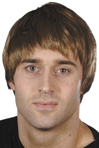 Smiffys Men's Short Brown Guy Wig, One Size, 5020570421772 -
