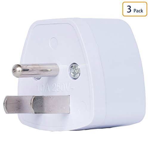 Universal Electrical AC Wall Plug Adapter Type B Power Converter Travel Charger Adapter for USA, Canada, Mexico, Brazil, Philippines, Thailand, Taiwan, Japan, American, Panama & More 3 PCS White