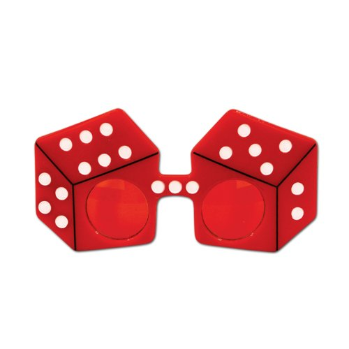 Red Dice Fanci-Frames Party Accessory (1 count) (1/Pkg) (Dice Costumes)