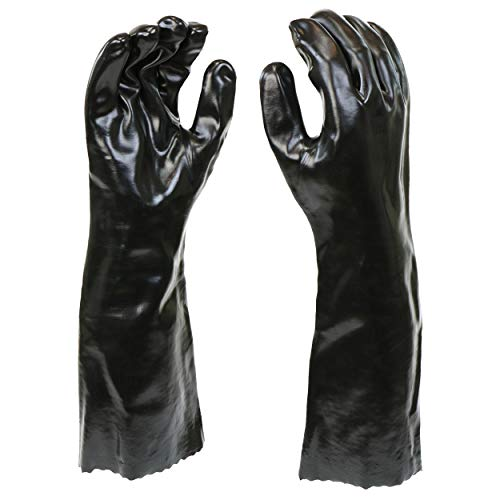 West Chester 12018-L 12018 Chemical Resistant PVC Coated Work Gloves: 18' Length, One Size Fits Most, 1 Pair