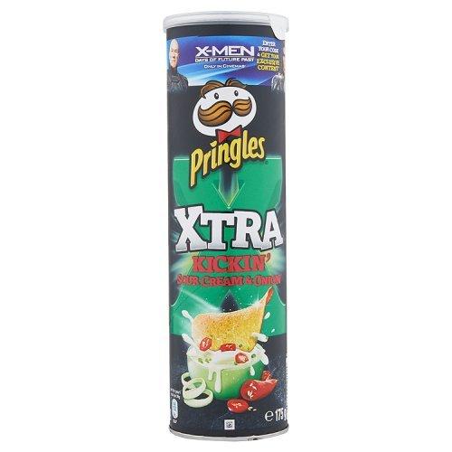 Pringles Xtra Kickin crema agria y cebolla 175g: Amazon.es: Alimentación y bebidas