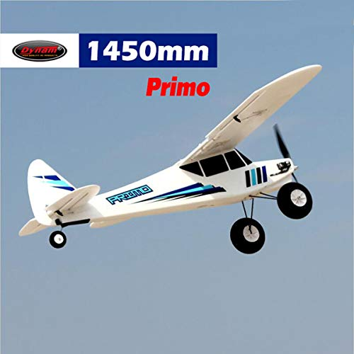 DYNAM RC Trainer Airplane Primo 1450mm Wingspan – PNP