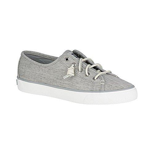 Sperry Top-sider Dames Zeekraal Linnen Fashion Sneaker Grijs