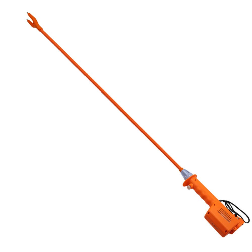 M.Z.A Livestock Prod Electric Cattle Prod Long Stock Prod Stick for Cow Pig Sheep 41.3'' Batteries-Operated Orange