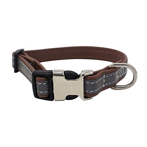 chenqiu Pet Dog Collar, Adjustable Rivet Solid Collar, Soft and Comfortable Fashion Collar, Suitable for Small and Medium Pets