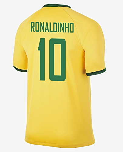 Ronaldinho #10 Brazil Home Jersey 2014/1 - Brazil Soccer Ronaldinho Shopping Results