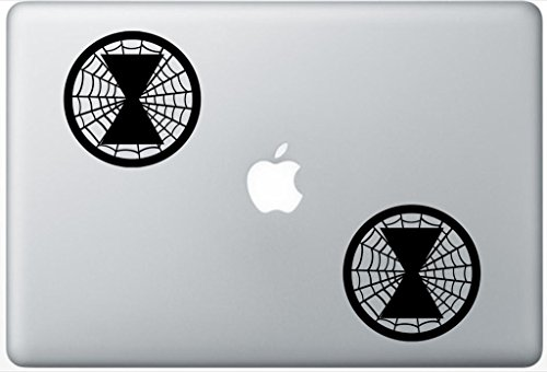 Black Widow Web Emblem ArcDecals78601535 Set Of Two (2x) , Decal , Sticker , Laptop , Ipad , Car , Truck (Black Widow Car Emblem compare prices)