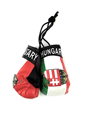 Red Hat Ent Hanging Car Mirror Mini Boxing Gloves (Hungary)