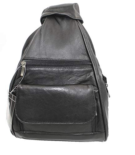 Womens Leather Backpack Purse Sling Shoulder Bag Handbag 3 in 1 Convertible ()