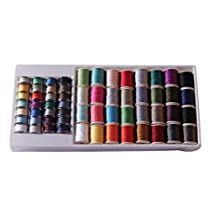 Homyl Pack of 60 Sewing Machine Bobbin Threads Hand Sewing Thread with Case for Brother/ Babylock/Janome/ Elna/ Singer, Assorted Colors
