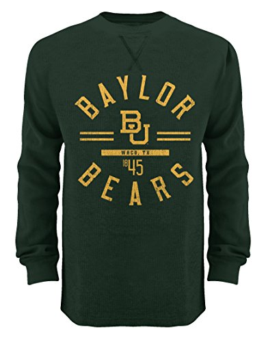- Old Varsity Brand NCAA Baylor Bears Thermal Crew Shirt, Large, Forest Green