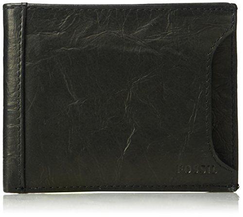 Fossil Men's Sliding 2 in 1 Wallet, Neel-Black, One Size