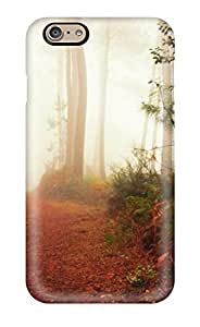 JakeNC Case Cover For Iphone 6 - Retailer Packaging A Men With Hat Walking With His Dog In The Wood Protective Case