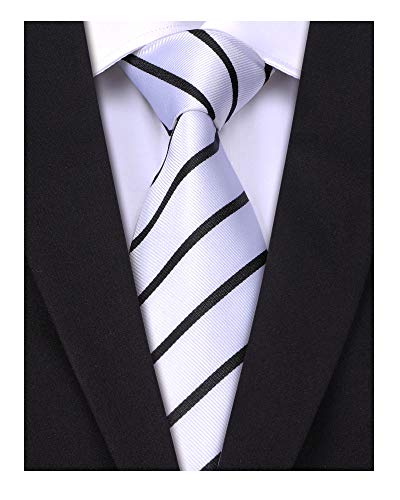 (LUISDAN Stripe Tie Jacquard Woven Microfiber Formal Men's Neckties - Various Styles)