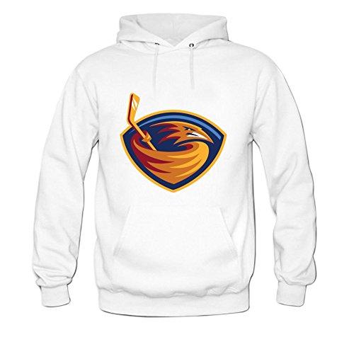 ZTANG Mens Hockey League Team Atlanta Thrashers Logo Pullover Sweater Hoodies XXXL White Atlanta Thrashers Hockey Team