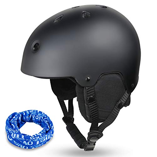 Zacro Ski & Cycling Helmet - Winter Snow Snowboard Skiing Helmet with CPSC and ASTM Certified,Compatible with Ski Goggles for Skiing, Comes with a Headwear and Personality Stickers (S 48-56cm)