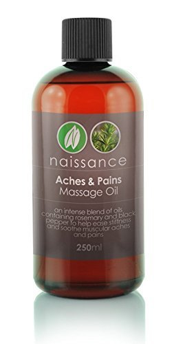 250ml Aches and Pains Massage Oil by Naissance B01HNCO81E
