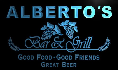 pr270-b Alberto's Bar & Grill Beer Wine Neon Light (Alberto Wine)