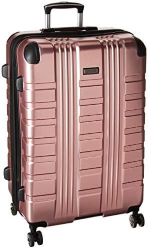 Kenneth Cole Reaction Scott s Corner 28 Hardside Expandable Spinner TSA Lock Checked Travel Suitcase, Rose Gold