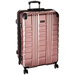 Travel Junkie 410MVzUCi5L._SS247_ Kenneth Cole Reaction Scott's Corner Hardside Expandable 8-Wheel Spinner TSA Lock Travel Suitcase, Rose Gold, 28-inch…
