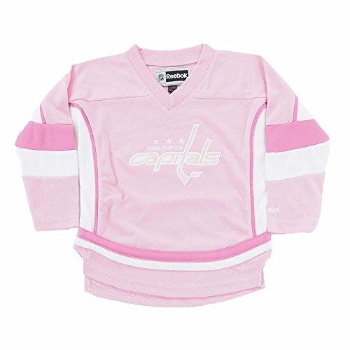 Reebok Washington Capitals NHL Girls Pink Official Team Fashion Jersey (5)