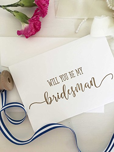 (Will You Be My Bridesman Card - Gold)