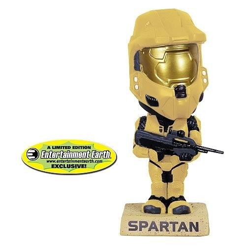 Exclusive Wacky Wobbler - Funko Halo 3 Exclusive Wacky Wobbler GOLD Master Chief Spartan Bobble-Head
