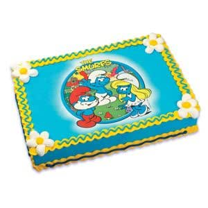 Edible Cake Images Storage : Amazon.com: The Smurfs Edible Image Cake Topper: Kitchen ...