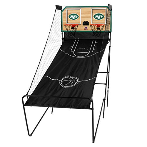Victory Tailgate New York Jets Double Shootout - Ready-to-Play with Four Basketballs, Pump and Needle - More NFL Teams Available (New York Jets Team Timer)