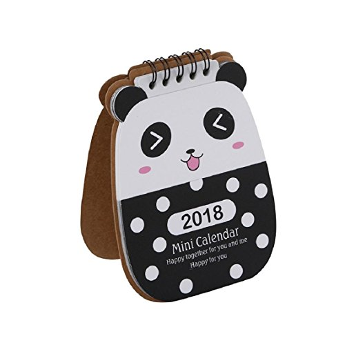 Price comparison product image Naladoo 2018 Cute Cartoon Animal Desk Desktop Calendar Flip Stand Table Office Planner (C)